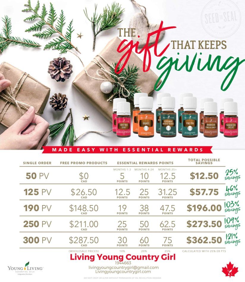 Young Living Christmas Spirit.December Promos Young Living Living Young Country Girl